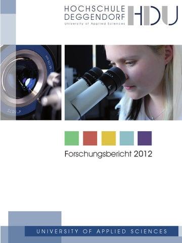 Forschungsbericht 2012 by Technische Hochschule Deggendorf - issuu