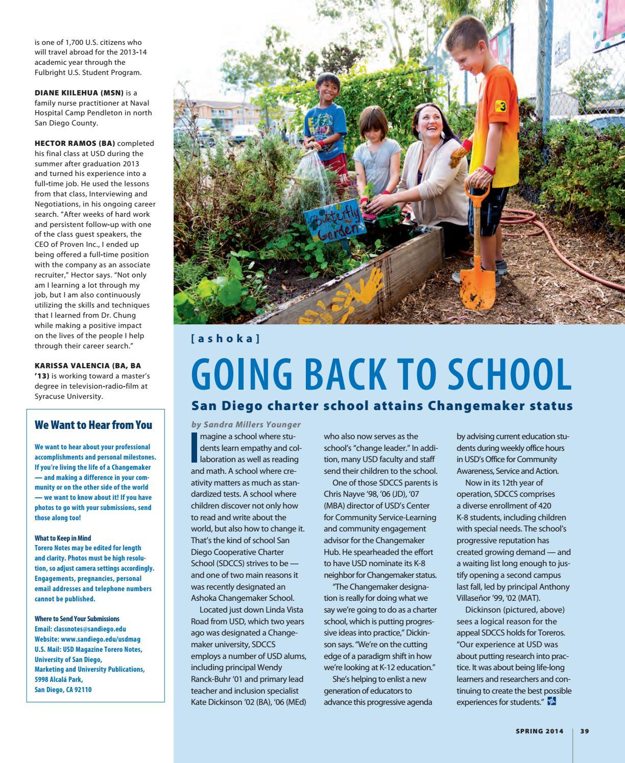 USD Magazine | Spring 2014 by University of San Diego - issuu