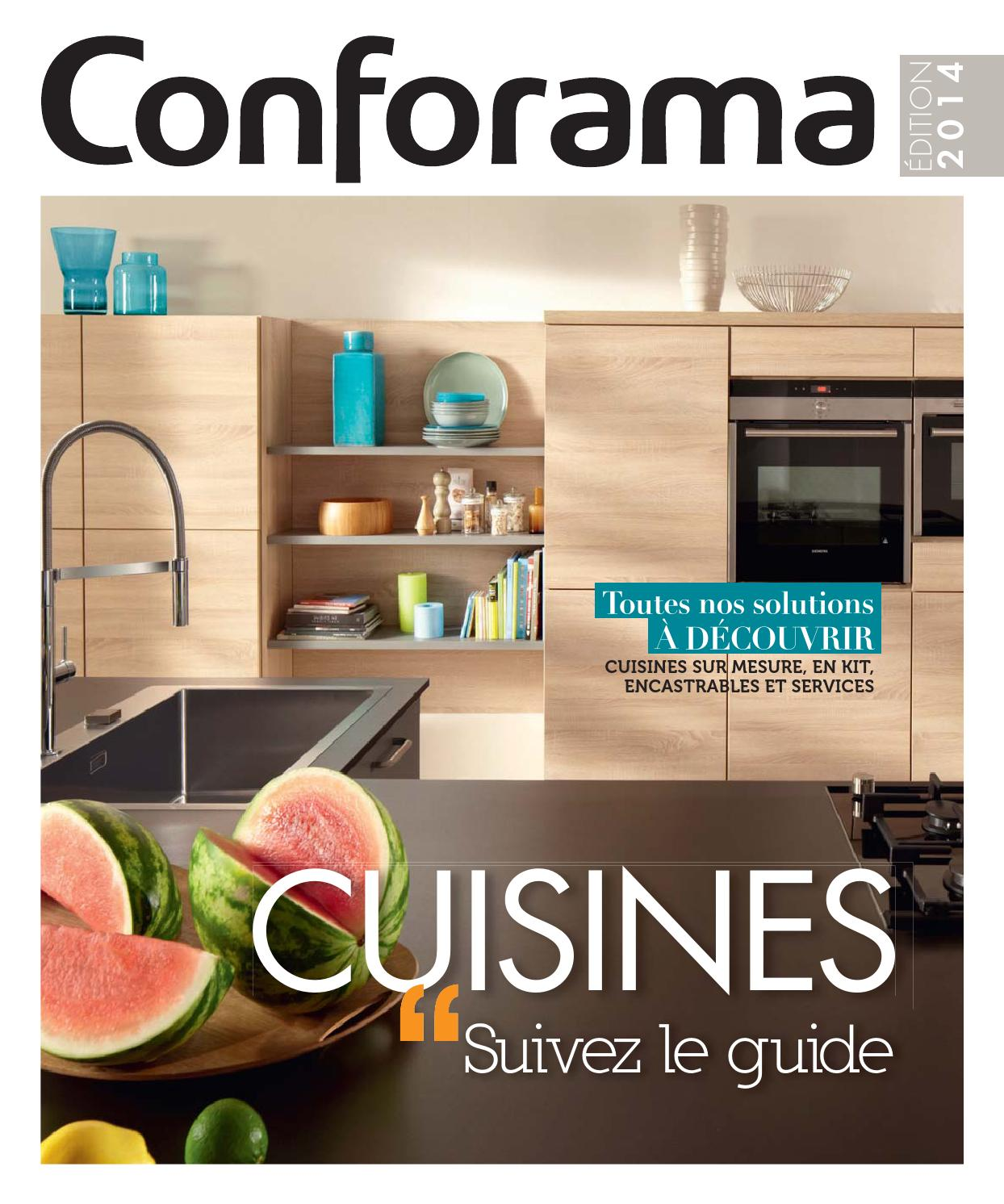 Catalogue conforama guide cuisines 2014 by joe monroe for Les cuisines encastrables