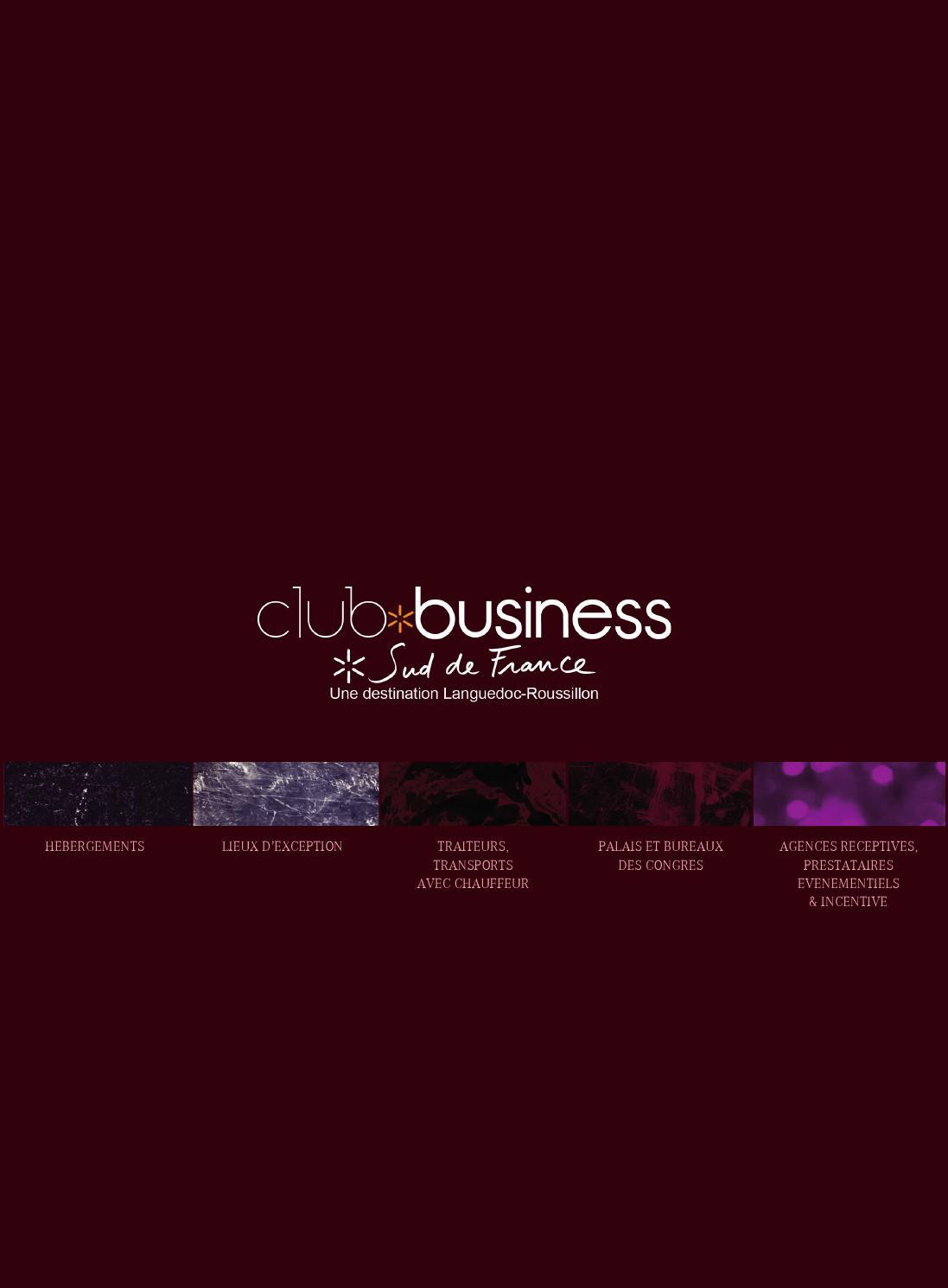 Brochure Club Business By Sud De France Dveloppement Issuu Circuit Training Prsentation Et Exemples D39entrainement