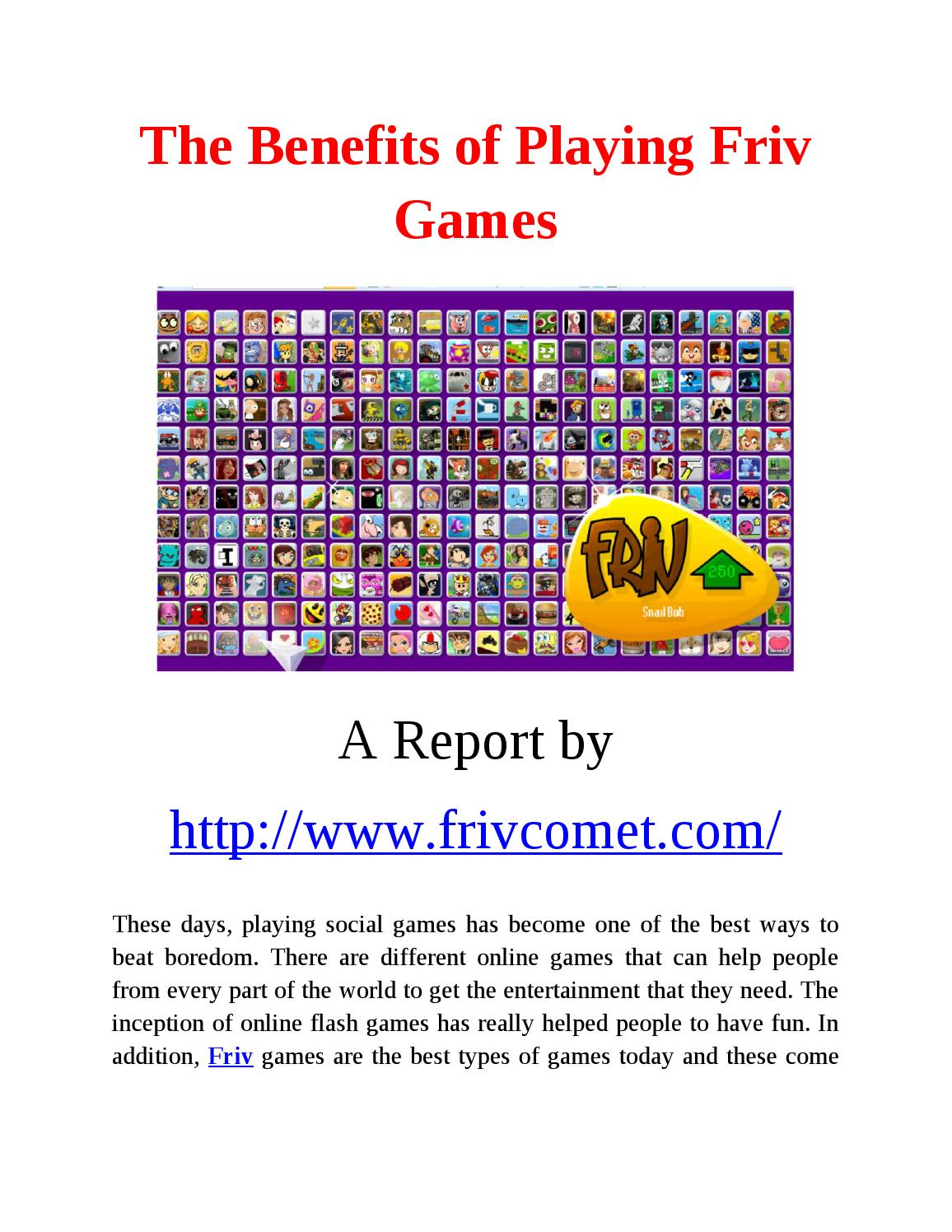 Friv play games online by syed muntajib - issuu