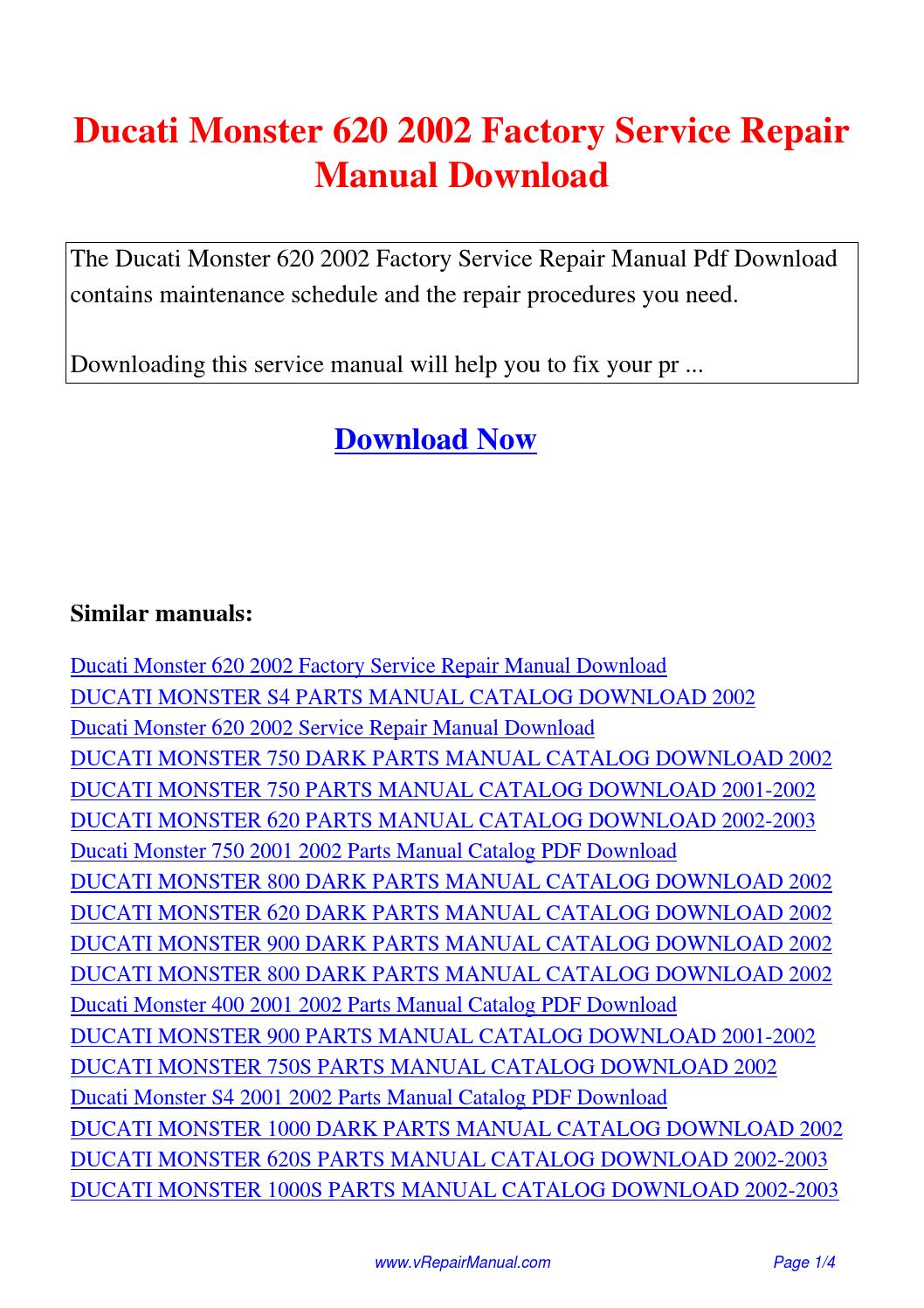 Ducati Monster 620 2002 Factory Service Repair Manual.pdf by David Zhang -  issuu