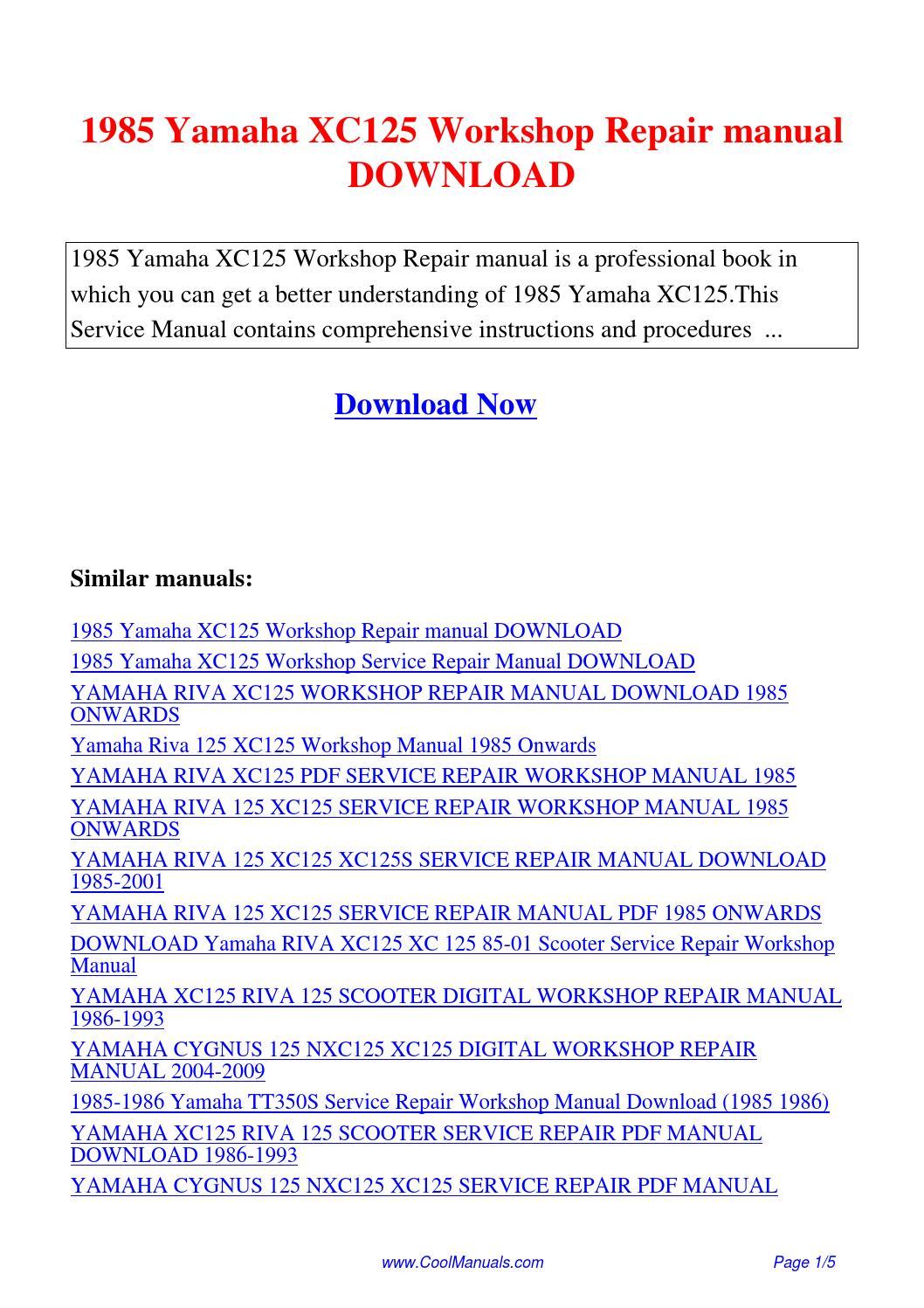 yamaha venture 485 snowmobile service manual repair 1991 1997 vt480