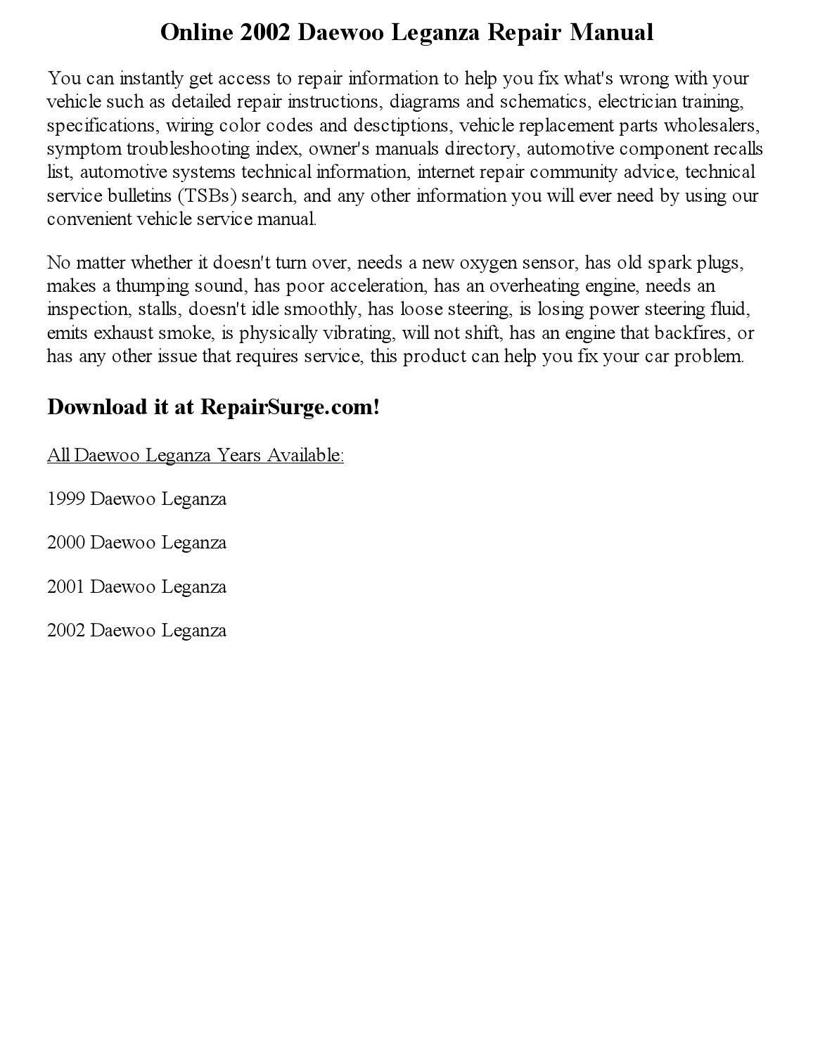 2002 daewoo leganza re...Daewoo Leganza Power Steering Parts Diagram
