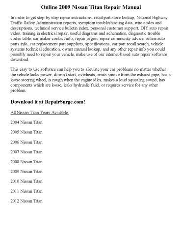 2009 nissan titan repair manual online by Carry_Dev - issuu
