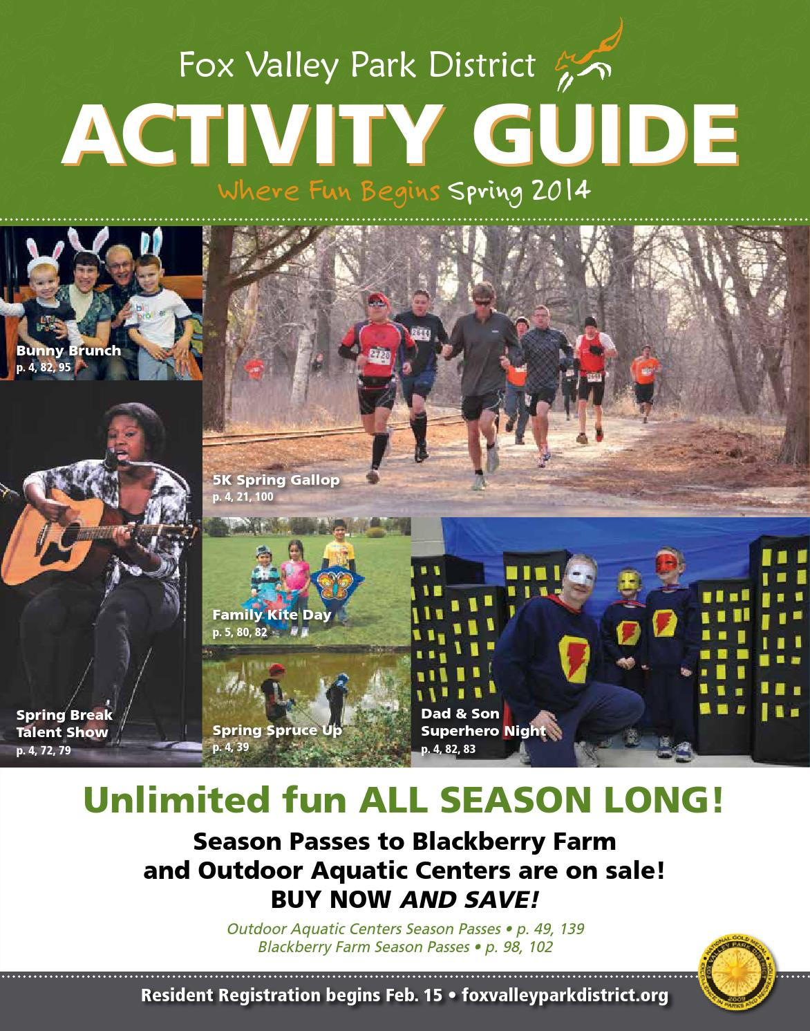 Fox Valley Park District Spring Activity Guide 2014 by Dan
