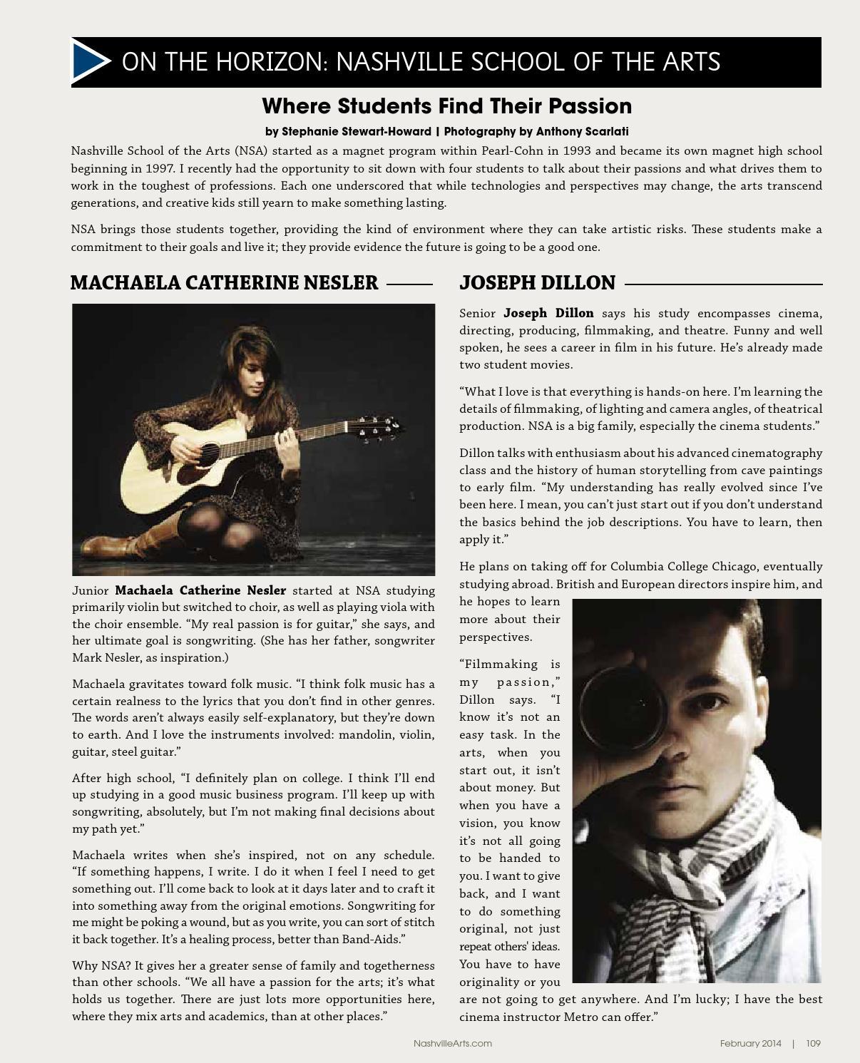 2014 February Nashville Arts Magazine