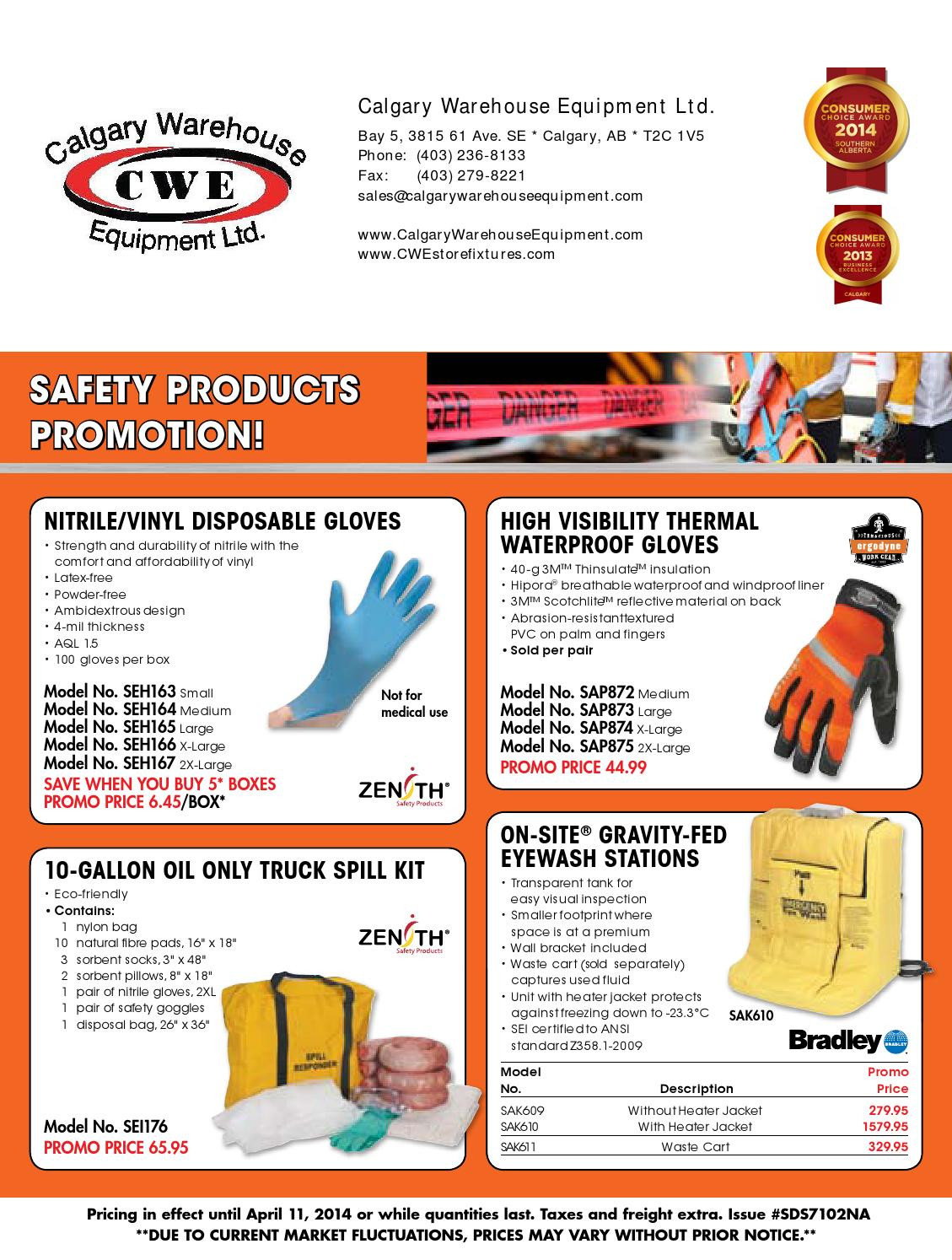 Spring Safety Sales Flyer 2014 By Calgary Warehouse