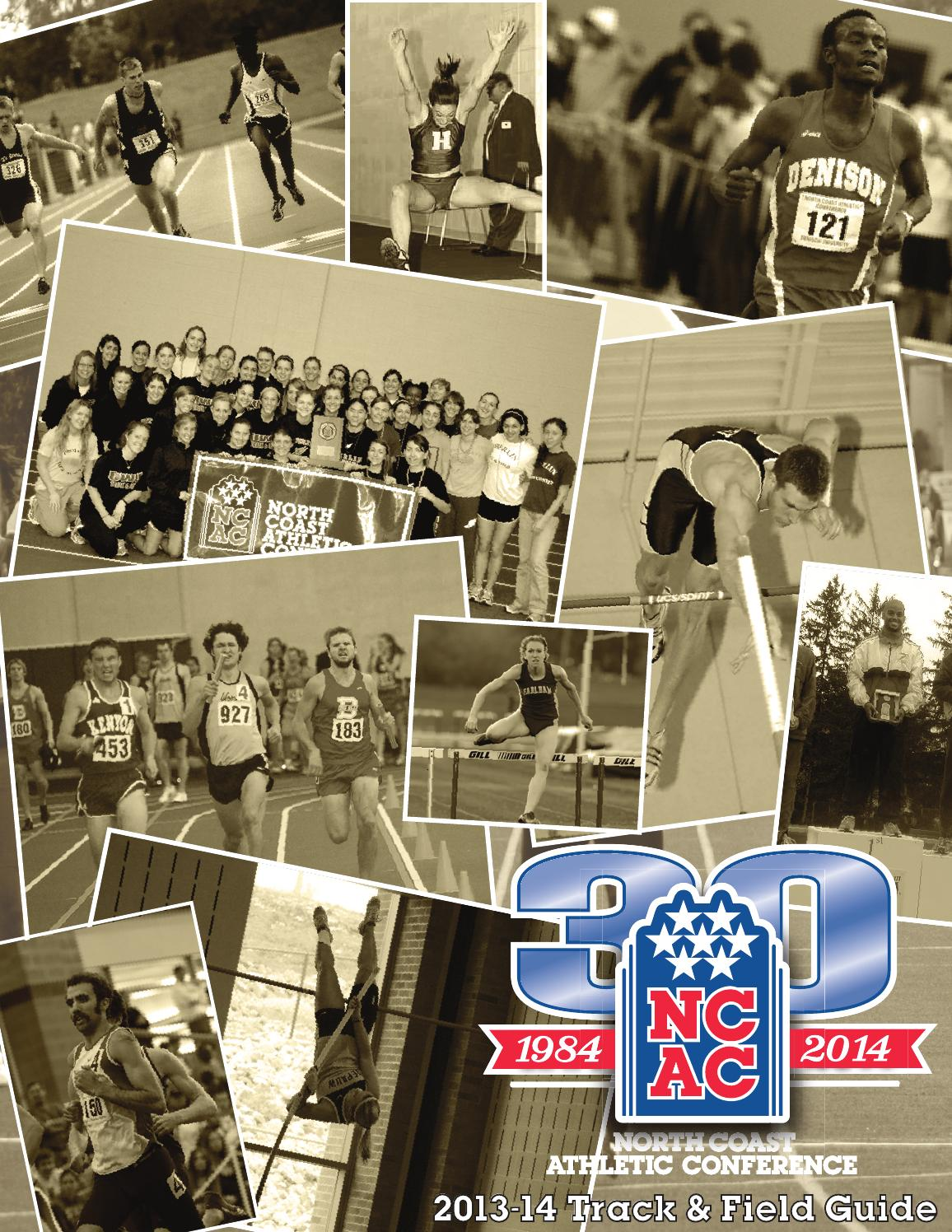 Denison University Football >> 2013-14 NCAC Track & Field Guide by North Coast Athletic