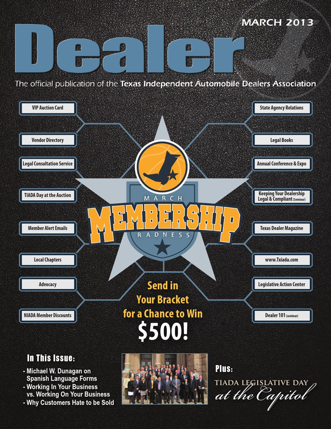 Texas Dealer, March 2013 by Texas Independent Auto Dealers ...