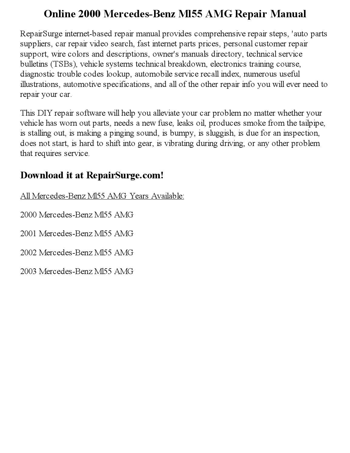 Comfortable Reznor F75 Tall Hss Wiring Regular Bulldog Security System Hh Strat Wiring Youthful Remote Starter Diagram GreenIbanez Gsr100 Bass 2000 Mercedes Benz Ml55 AMG Repair Manual Online By Nicole   Issuu
