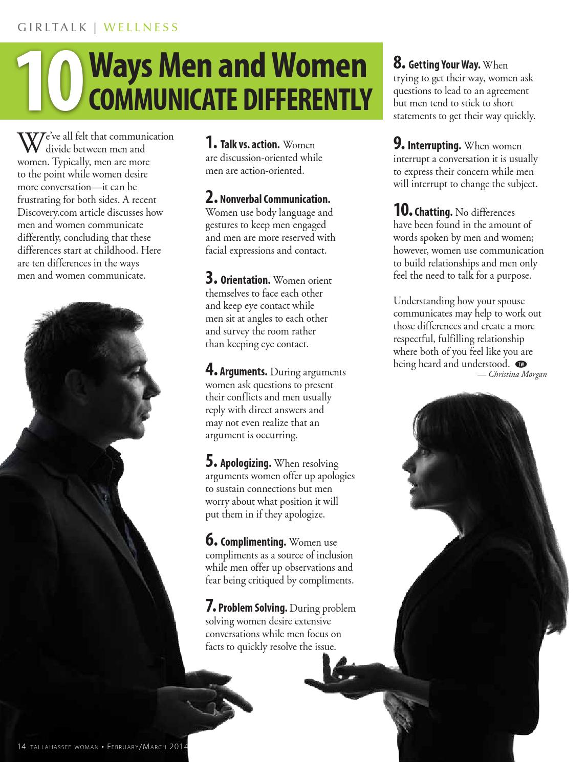 5 main differences as men and women use their body language