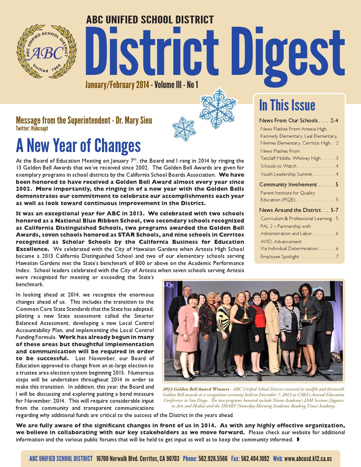 ABCUSD District Digest   January-February 2014 by Q Press