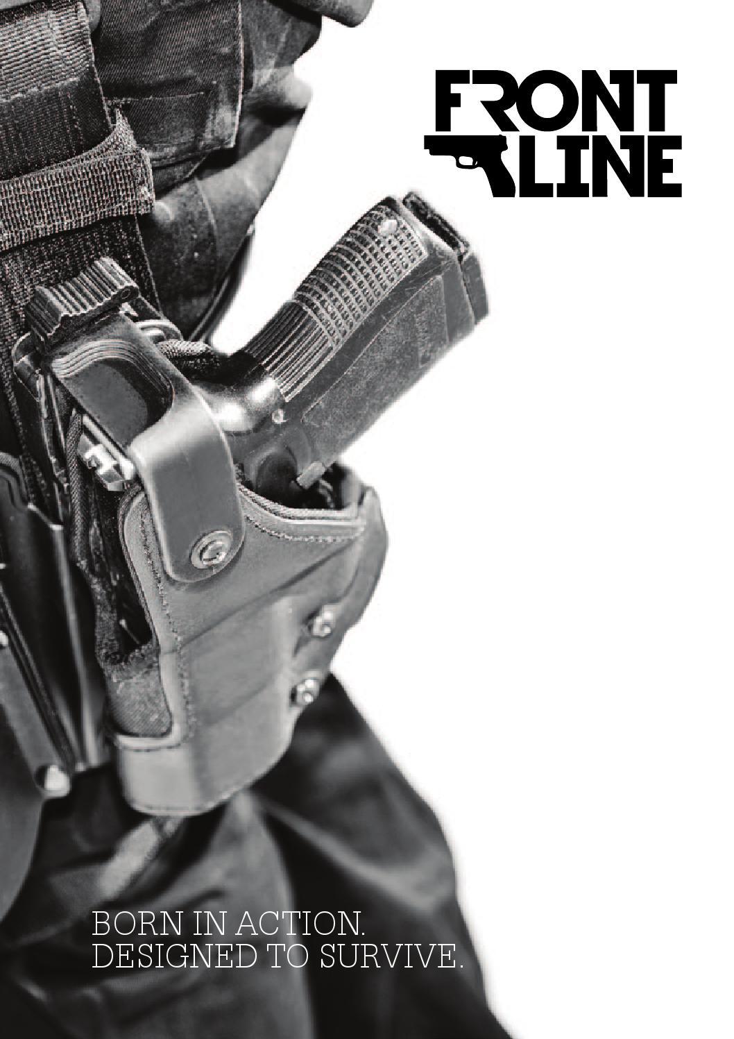 RH GLOCK 19 23 Front Line Open Top BFL Black Suede Lined 3-Layers Belt Holster