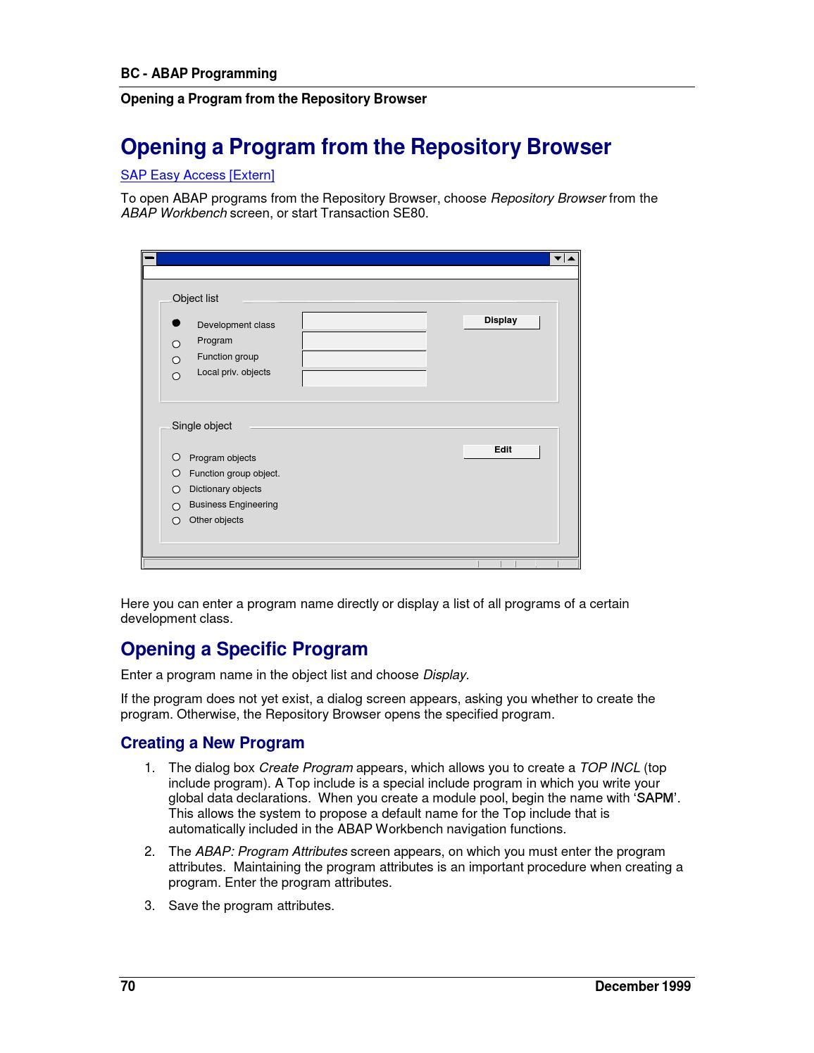 Sap bc abap programming 1999 01 05 by Luigi M  - issuu