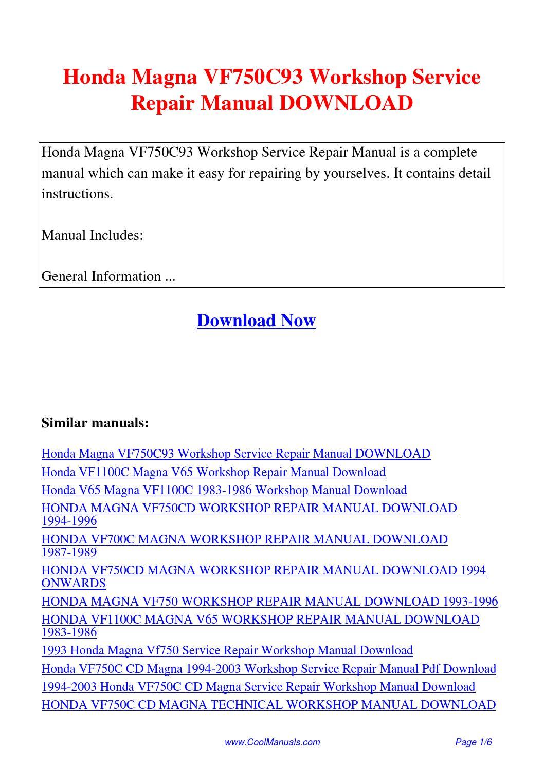 2001 2003 honda vt750dc workshop repair manual download