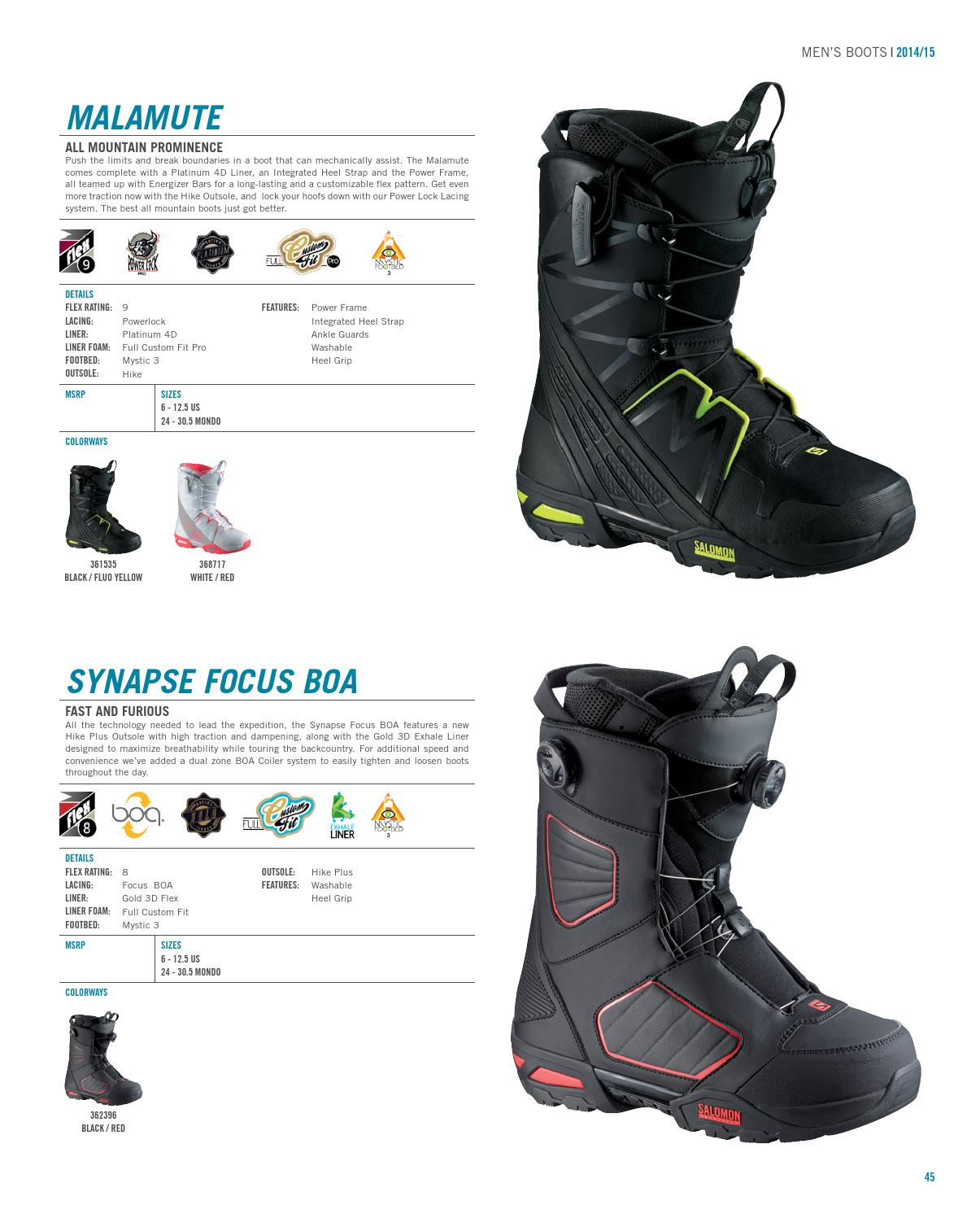 Salomon Dialogue Focus Boa Mens Boots Snowboard Black All Sizes