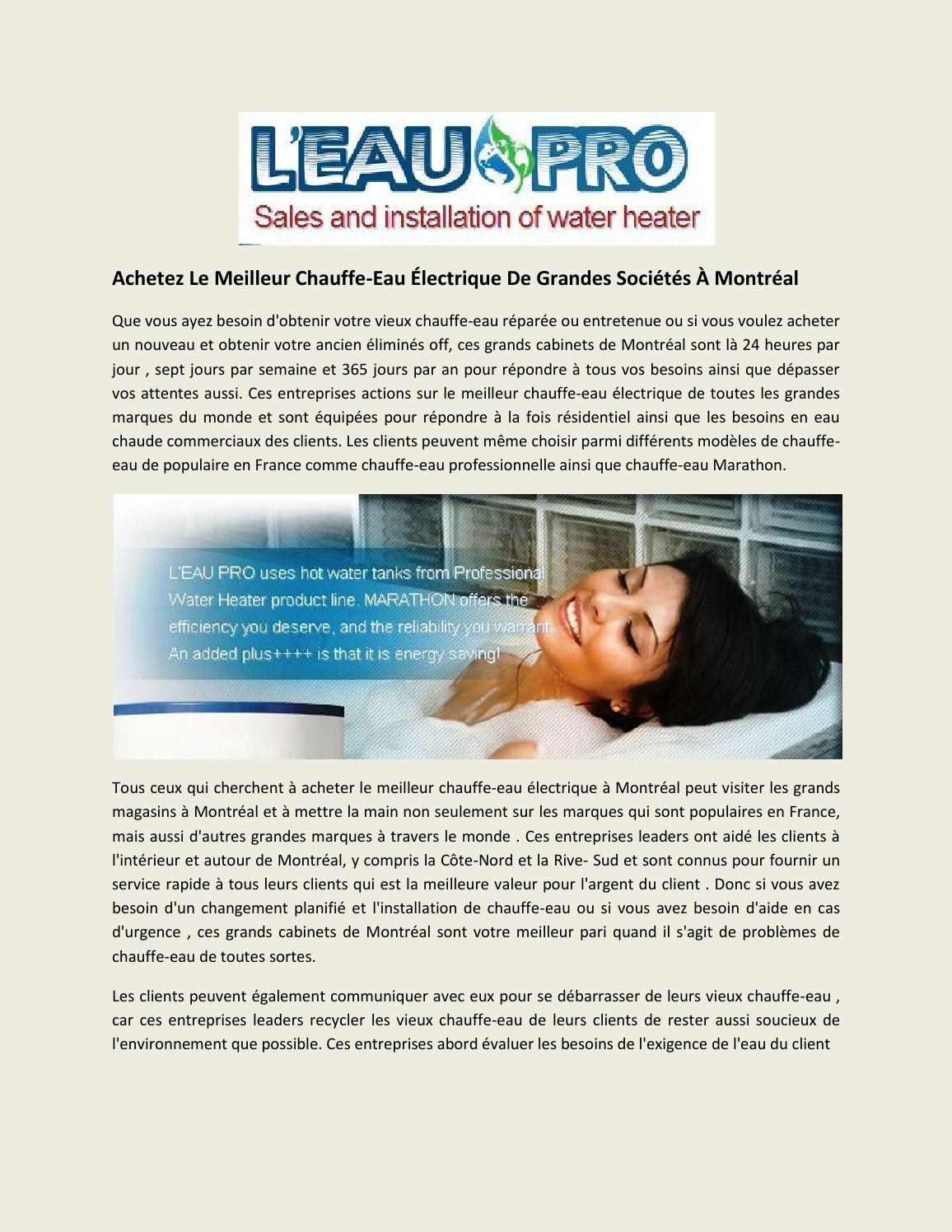meilleur chauffe eau lectrique l eau pro by leaupro issuu. Black Bedroom Furniture Sets. Home Design Ideas