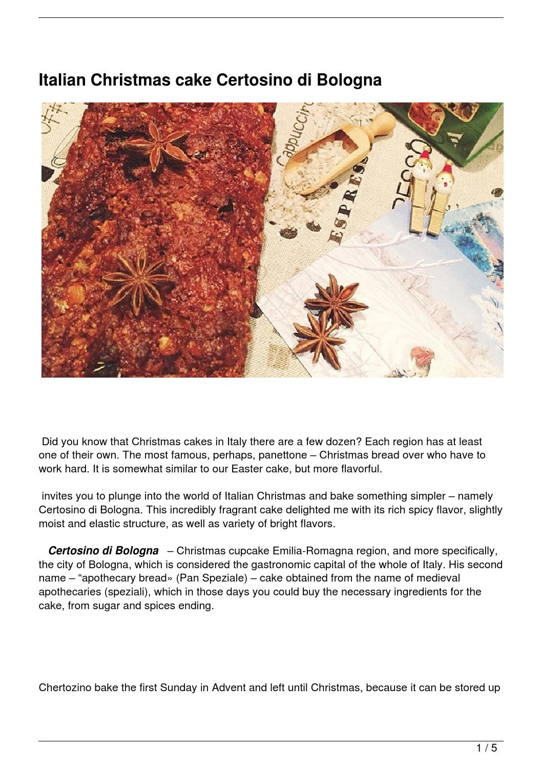 Italian Christmas cake Certosino di Bologna by funtravel4u - issuu