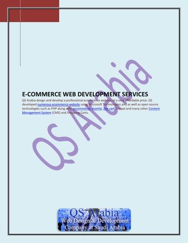 E commerce web development services by qs arabia by QS
