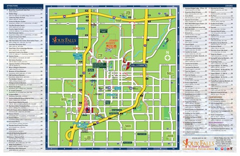 2014 Sioux Falls Map by Sioux Falls Convention Visitors Bureau issuu