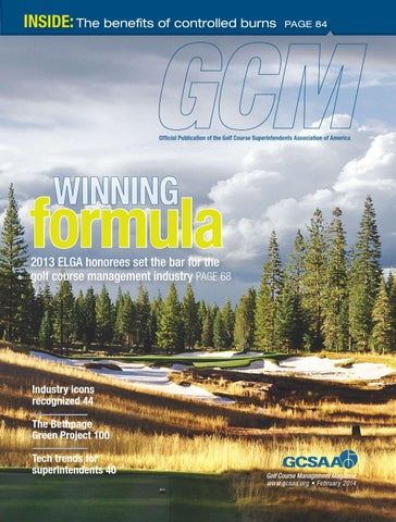 Golf Course Management - February 2014 by Golf Course Management - on