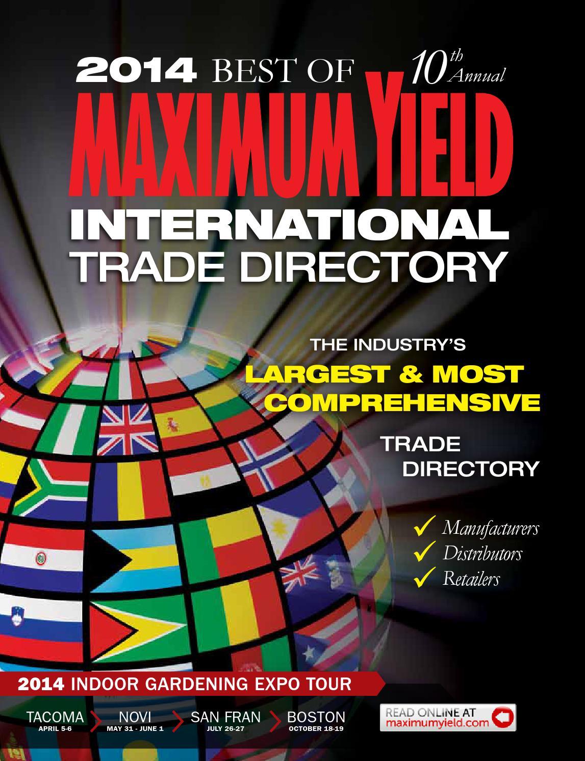 Maximum Yield International Trade Directory Best Of 2014 By Tas Ransel Ozone P705 Issuu
