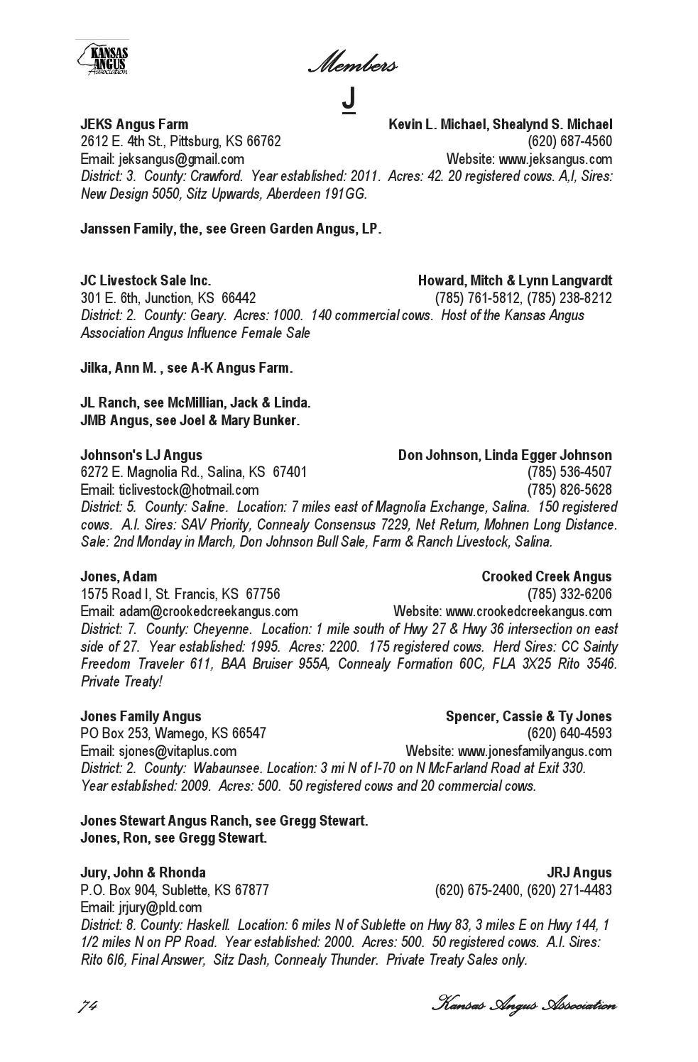 prezzo basso up-to-date styling trova il prezzo più basso Kansas Angus Association - 2014 Membership Directory by ...