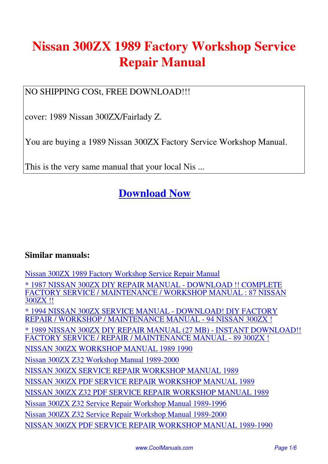 Nissan 300ZX 1989 Factory Workshop Service Repair Manual.pdf by Linda Pong  - issuu