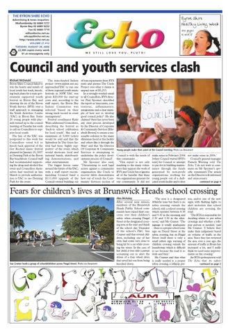 3c5ca590bf1 Byron Shire Echo – Issue 21.12 – 29 08 2006 by Echo Publications - issuu