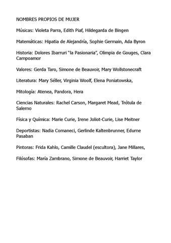 Listado nombres propios de mujer by dgoipe issuu matemticas hipatia de alejandra sophie germain ada byron historia dolores ibarruri la pasionaria olimpia de gouges clara campoamor valores thecheapjerseys Choice Image