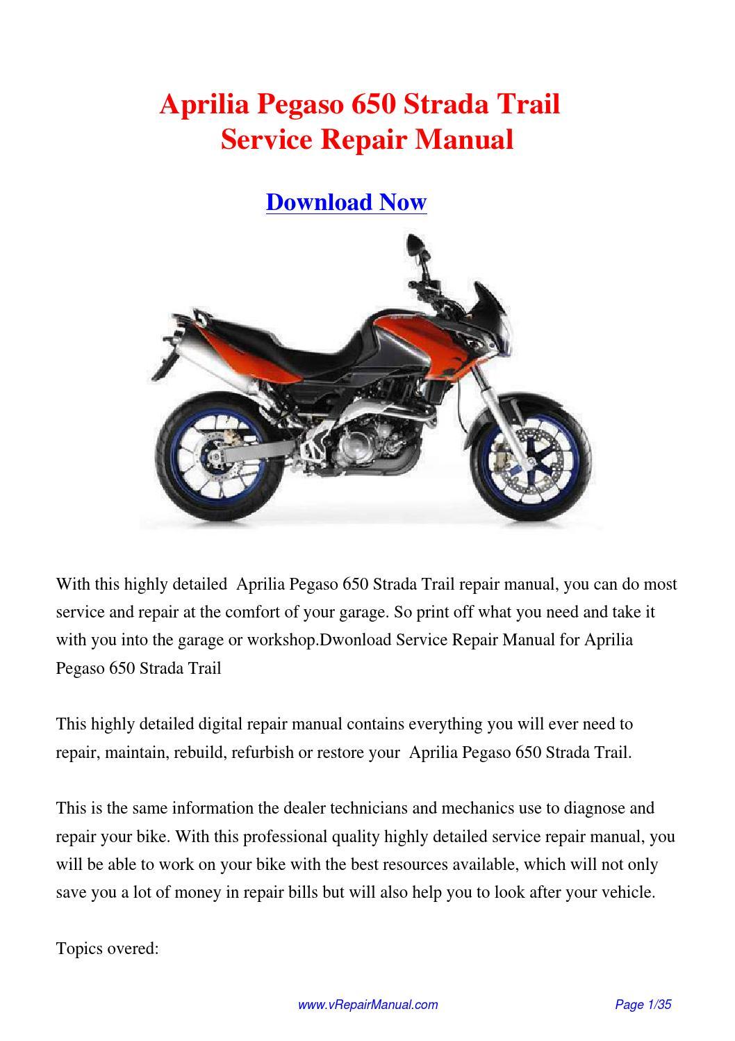 aprilia pegaso 650 2005 factory service repair manual pdf