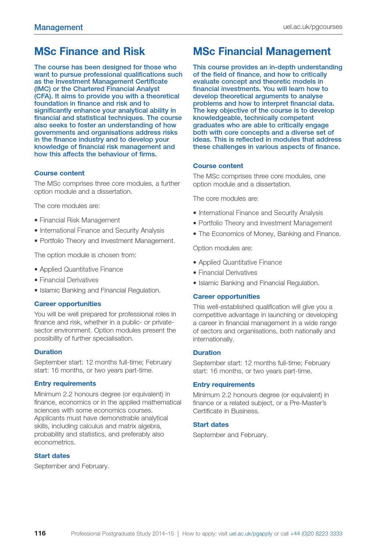 Postgraduate prospectus 2014 15