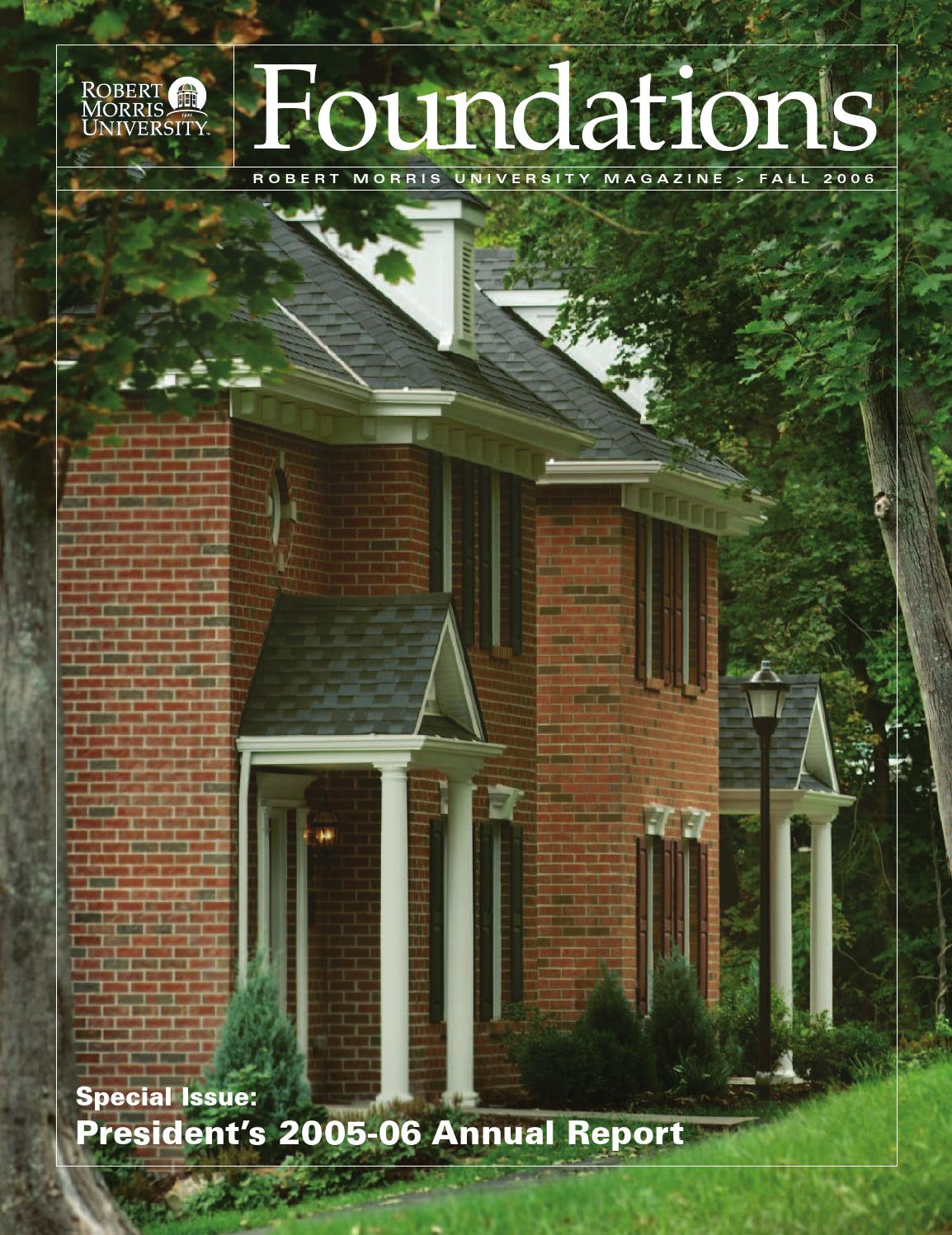 Foundations Fall 2006 by Robert Morris University - issuu