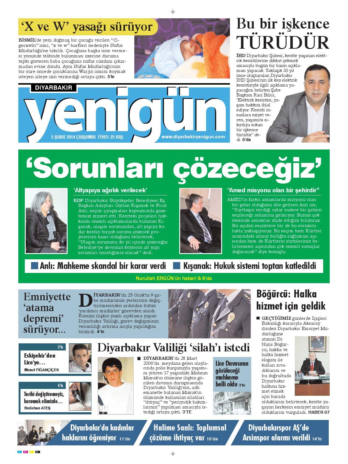 Diyarbakir Yenigun Gazetesi By Osman Ergun Issuu