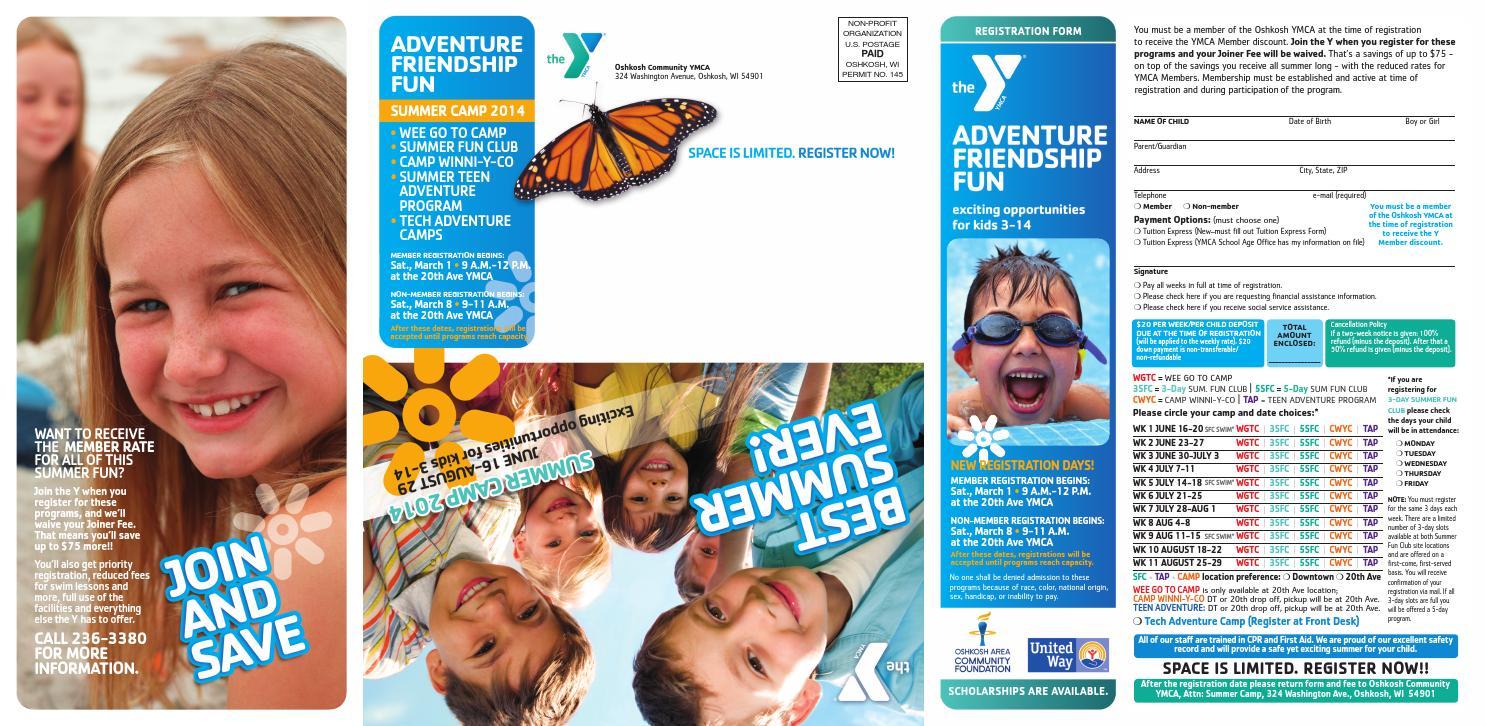 Oshkosh Ymca Summer Camps Brochure By Oshkoshymca - Issuu-3897