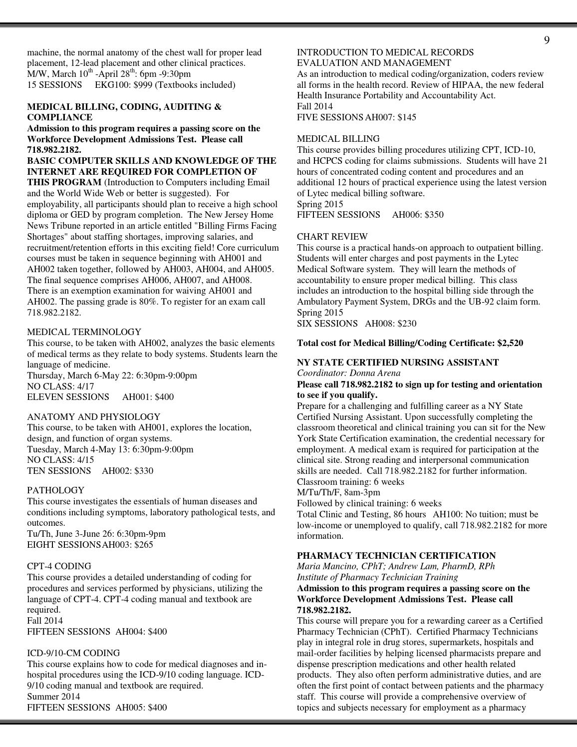 Spring 2014 catalog by CUNY College of Staten Island - issuu