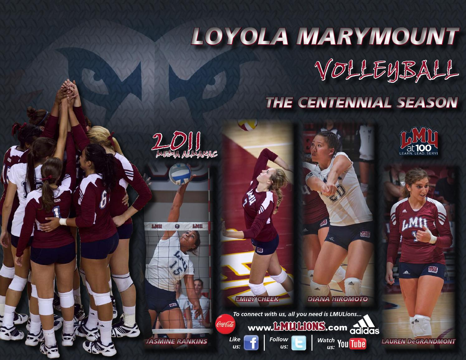 2011 Volleyball Record Book By Lmu Athletics Issuu