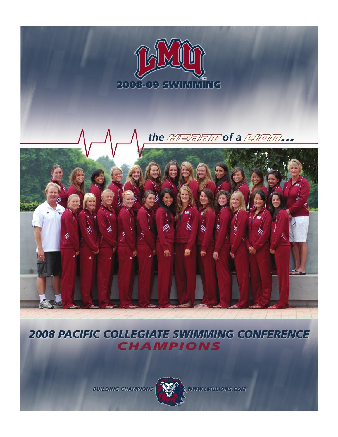 2008-09 Swimming Record Book by LMU Athletics - issuu 985ae0b534c
