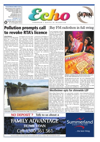 Byron Shire Echo – Issue 21 10 – 15/10/2006 by Echo