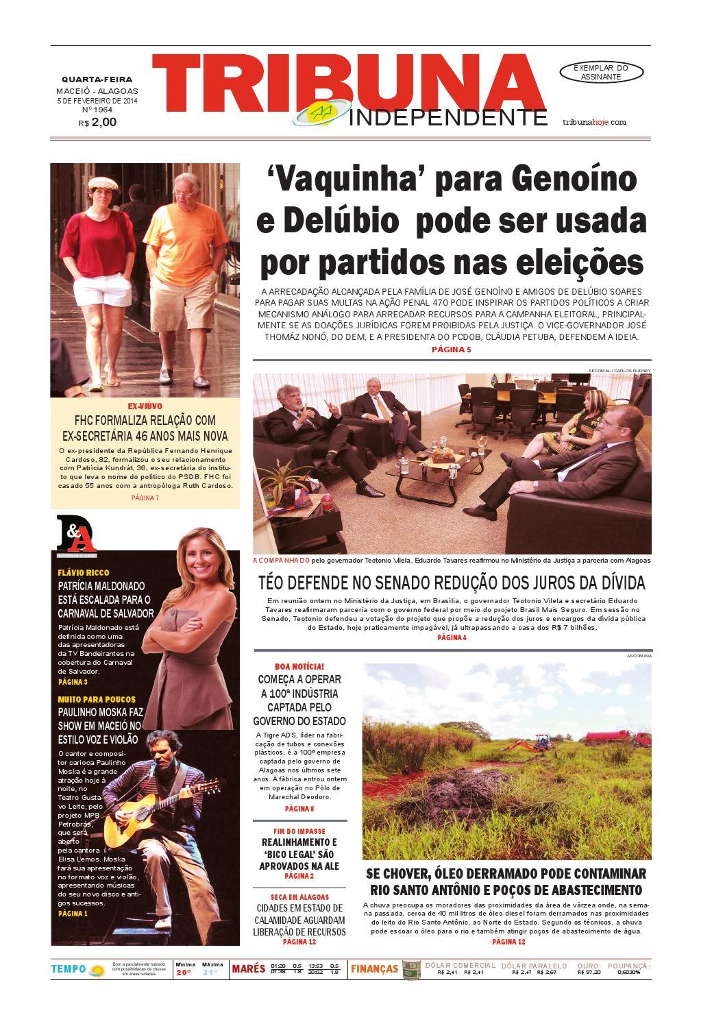 Edição número 1964 - 5 de fevereiro de 2014 by Tribuna Hoje - issuu 7dac24b7054d3