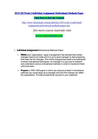 motivational methods paper