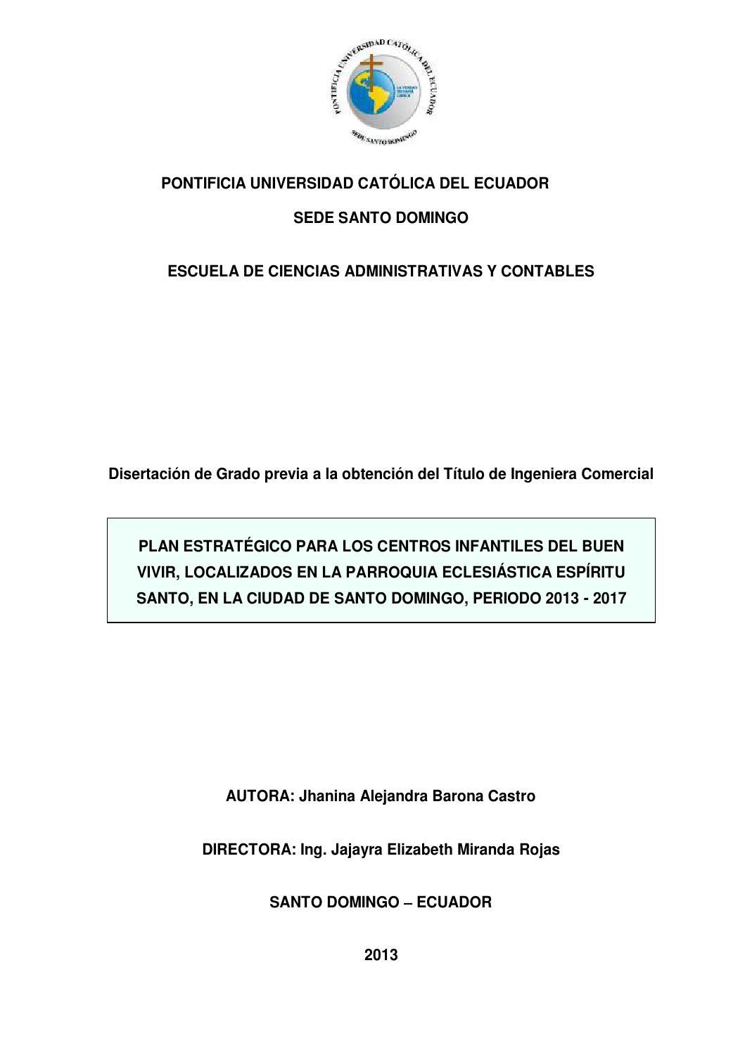 Plan estratégico para los centros infantiles del Buen Vivir by ...