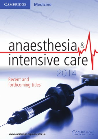 Cambridge medicine anaesthesia intensive care 2014 by cambridge page 1 fandeluxe Gallery