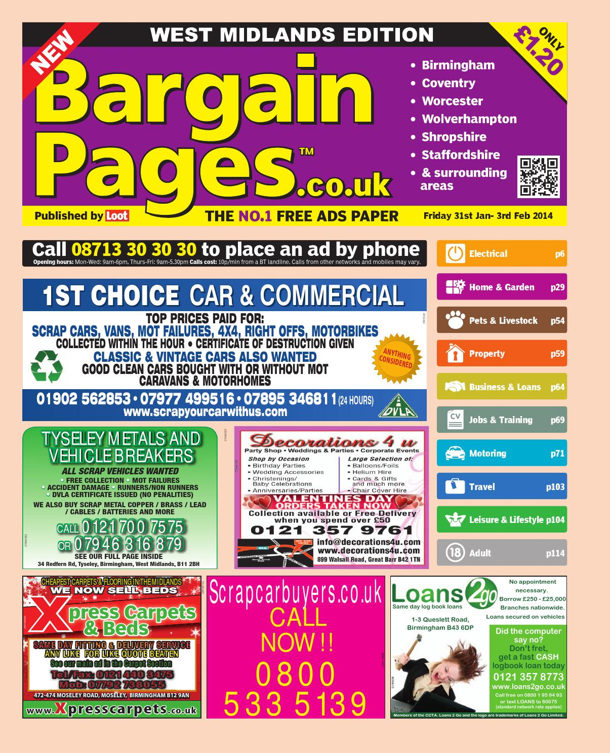 new product 769d6 099ea Bargain Pages Midlands, 31st January 2014 by Loot - issuu