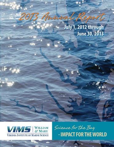 2013 Vims Annual Report By Virginia Institute Of Marine Science Issuu