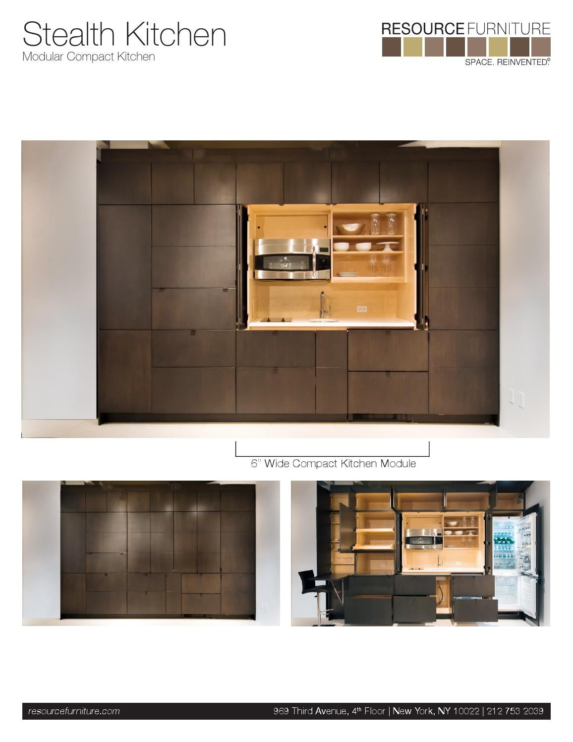 Stealth Kitchen Specs And Dimensions Pdf 35729 By Resource Furniture Issuu