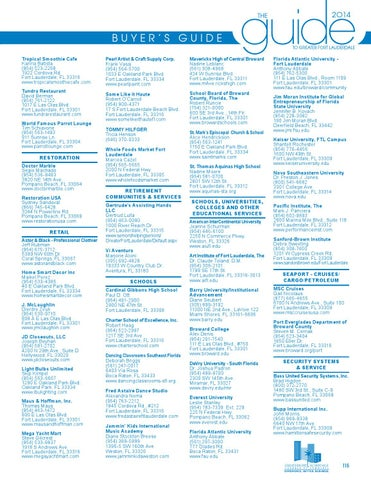 Greater Fort Lauderdale Chamber Of Commerce 2014 Guide To Greater