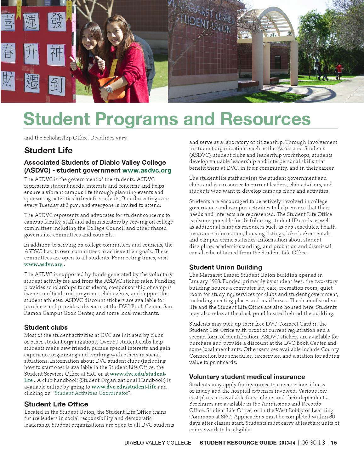 Resource guide 2013 14 by diablo valley college issuu.