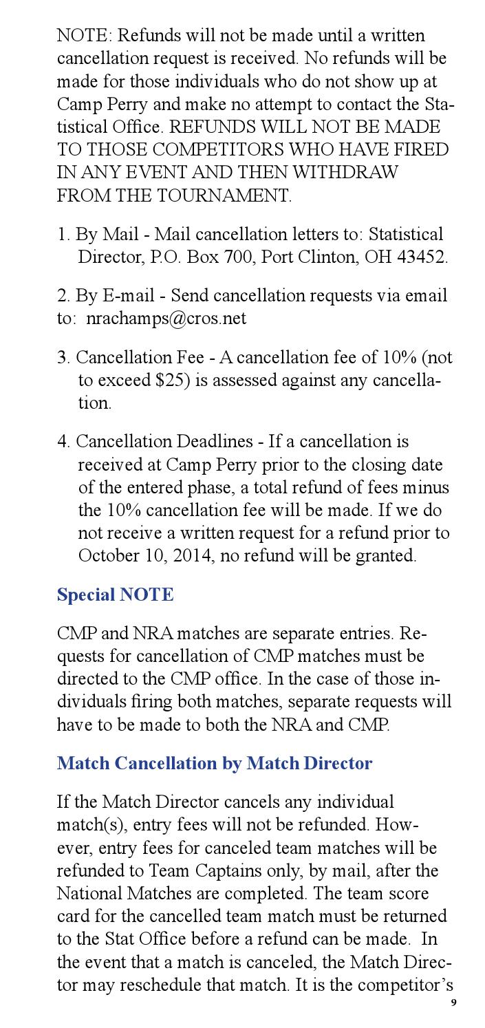 match cancellation number